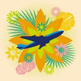 Abstract summer travel illustration Stock Photography