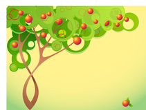 Abstract summer tree stock illustration