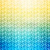 Abstract summer tropical blue and yellow background. Geometric p stock illustration