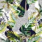 Abstract summer tropical palm tree background. Stock Photography