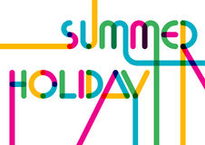 Abstract summer typographic background. Colorful greeting card. Royalty Free Stock Photos