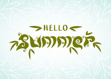 Abstract summer typographic background, nature organic style let Royalty Free Stock Image