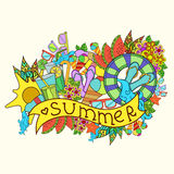 Abstract summer vecetion time background vector illustration concept design. Template element for your product or design Stock Photos