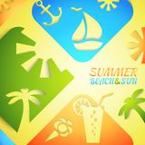 Abstract summer vector illustration. Bright beach Stock Photo