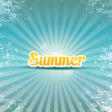 Abstract summer vector rays background Stock Photos