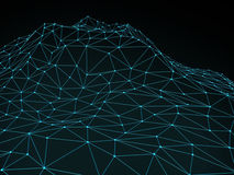 Abstract Summit Background. Abstract landscape background. Cyberspace grid / summit Royalty Free Stock Photo