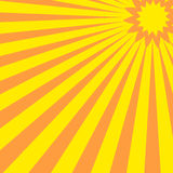 Abstract sun. Abstract yellow pink sun with stripes Stock Illustration