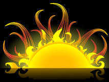 Abstract sun Royalty Free Stock Image