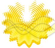 Abstract sun. Abstract yellow sun and rays Royalty Free Stock Photography