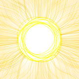 Abstract sun. Absract summer background like sun or flower. EPS 10 vector illustration. Used effect transparency layers of rays Stock Photo