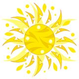 Abstract sun. Illustration of abstract decorative sun Royalty Free Stock Photo