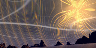 Abstract sun. Sun rays in the sky stock illustration