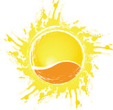 Abstract sun. A vector abstract sun splodge Stock Image
