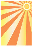 Abstract sun background. Vector image of simple  drawn sun Stock Photo
