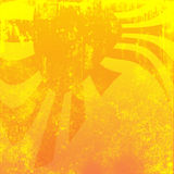 Abstract sun background. Abstract sun with sunburst with yellow texture isolated on yellow and orange Stock Photo