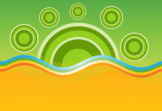 Abstract sun background royalty free illustration