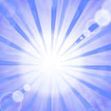 Abstract Sun Background. Summer Pattern. Bright Background with Sunshine. SunBurst with Flare and Lens Stock Photo