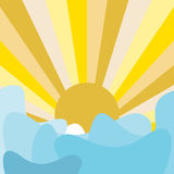 Abstract sun and cloud. Vector abstract sun and cloud background Royalty Free Stock Photography