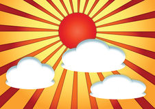Abstract sun with cloud Royalty Free Stock Images