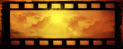 Abstract sun and clouds, background. Abstract sun and clouds, film background Royalty Free Stock Photos