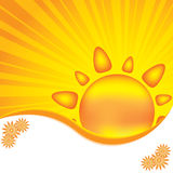 Abstract sun design background. With rays Royalty Free Stock Image