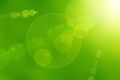 Abstract Sun Flares. Sun flares on a green abstract background vector illustration