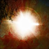 Abstract Sun Glare. An abstract image of the sun's glare cast Royalty Free Stock Photo