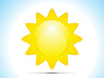 Abstract sun icon Royalty Free Stock Images