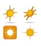 Abstract sun icon set Royalty Free Stock Photo