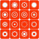 Abstract sun icons. Vector. Royalty Free Stock Image