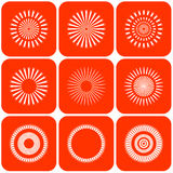 Abstract Sun Icons. Vector. Stock Image