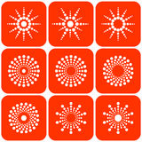 Abstract sun icons. Vector. Stock Photo