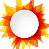 Abstract sun illustration, vector round template background Royalty Free Stock Photos