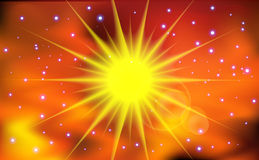 Abstract sun light background. Royalty Free Stock Photo