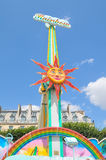 Abstract sun in Paris Stock Image