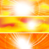 Abstract sun ray banners Royalty Free Stock Image