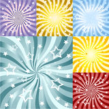 Abstract sun rays background set Stock Photo