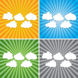 Abstract sun rays with clouds background. Clouds on a background of the sun rays Stock Images