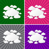 Abstract sun rays with clouds background. Clouds on a background of the sun rays Stock Photo