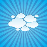 Abstract sun rays with clouds background. Clouds on a background of the sun rays Stock Image