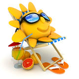 Abstract sun relax Royalty Free Stock Photo