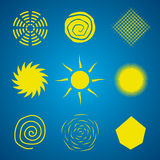 Abstract Sun Set. Isolated signs vector illustration Royalty Free Stock Photos