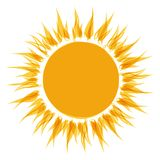 Abstract sun shape for your design Royalty Free Stock Photos