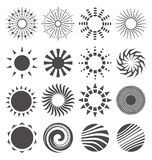 Abstract sun shapes collection Stock Images