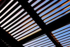 Abstract Sun Shutters. Mediterranean shutters used for sun protection Royalty Free Stock Photos