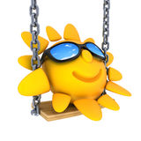 Abstract Sun and swing stock illustration