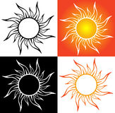 Abstract sun, tattoo Royalty Free Stock Photo