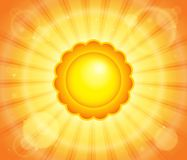 Abstract sun theme image 6 Stock Image