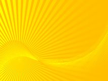Abstract sunbeams. Illustration of yellow abstract sunbeams Royalty Free Stock Photos
