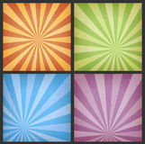 Abstract Sunbeams Backgrounds Set Royalty Free Stock Photography